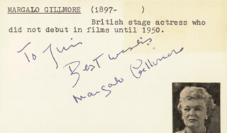 MARGALO GILLMORE - AUTOGRAPH NOTE SIGNED