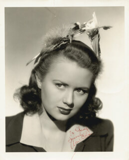 ANN GILLIS - AUTOGRAPHED INSCRIBED PHOTOGRAPH 02/05/1943
