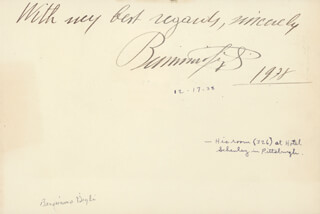 BENIAMINO GIGLI - AUTOGRAPH SENTIMENT SIGNED 12/17/1938 CO-SIGNED BY: LUKE BARNETT
