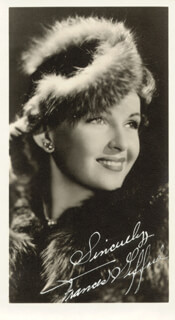 FRANCES GIFFORD - AUTOGRAPHED SIGNED PHOTOGRAPH