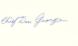 Autographs: CHIEF DAN (TES-WAH-NO) GEORGE - SIGNATURE(S)