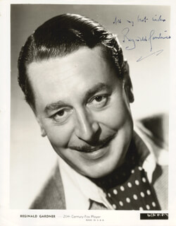 REGINALD GARDINER - AUTOGRAPHED SIGNED PHOTOGRAPH