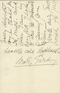 MARY GARDEN - AUTOGRAPH LETTER SIGNED 02/23/1927