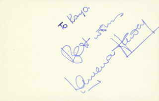 LAURENCE HARVEY - AUTOGRAPH NOTE SIGNED