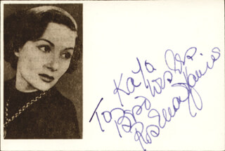 ROSEMARY HARRIS - AUTOGRAPH NOTE SIGNED
