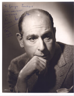 SIR CEDRIC HARDWICKE - AUTOGRAPHED INSCRIBED PHOTOGRAPH 1956