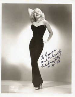 HOPE HAMPTON - AUTOGRAPHED INSCRIBED PHOTOGRAPH 1968