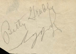 BETTY GRABLE - AUTOGRAPH CO-SIGNED BY: JACKIE COOGAN