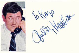 BUDDY HACKETT - INSCRIBED SIGNATURE