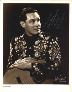 TITO GUIZAR - AUTOGRAPHED SIGNED PHOTOGRAPH 01/10/1947