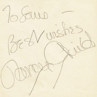 NANCY GUILD - AUTOGRAPH NOTE SIGNED