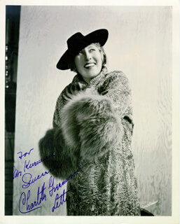 CHARLOTTE GREENWOOD - AUTOGRAPHED INSCRIBED PHOTOGRAPH