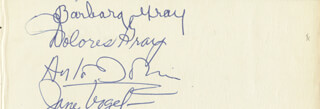 DOLORES GRAY - AUTOGRAPH CO-SIGNED BY: BARBARA GRAY