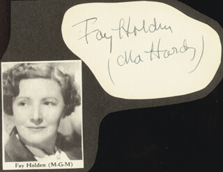 FAY HOLDEN - AUTOGRAPH