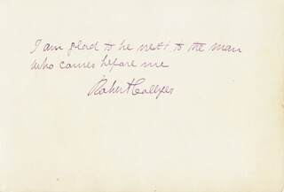 Autographs: ROBERT COLLYER - AUTOGRAPH QUOTATION SIGNED