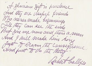 ROBERT COLLYER - AUTOGRAPH POEM SIGNED