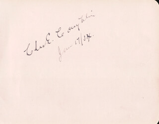 Autographs: CHARLES COUGHLIN - SIGNATURE(S) 01/17/1934