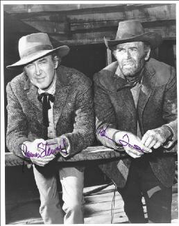 FIRECREEK MOVIE CAST - AUTOGRAPHED SIGNED PHOTOGRAPH CO-SIGNED BY: JAMES JIMMY STEWART, HENRY FONDA