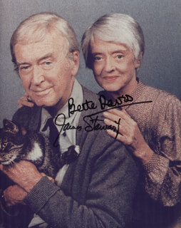 JAMES JIMMY STEWART - AUTOGRAPHED SIGNED PHOTOGRAPH CO-SIGNED BY: BETTE DAVIS