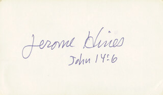 JEROME HINES - POST CARD SIGNED