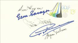 BEN HOGAN - ENVELOPE SIGNED CO-SIGNED BY: GREG THE SHARK NORMAN, CURTIS N. STRANGE, GENE SARAZEN, BYRON NELSON
