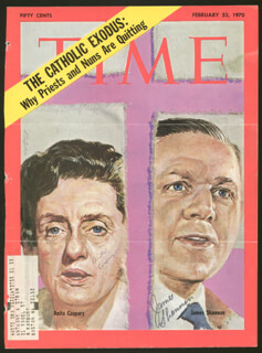Autographs: BISHOP JAMES SHANNON - MAGAZINE COVER SIGNED CO-SIGNED BY: SISTER ANITA MARIE CASPARY
