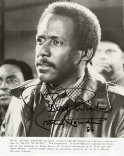 RICHARD ROUNDTREE - AUTOGRAPHED SIGNED PHOTOGRAPH 1986
