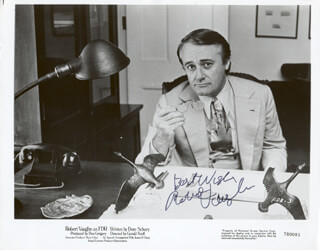 ROBERT VAUGHN - PRINTED PHOTOGRAPH SIGNED IN INK