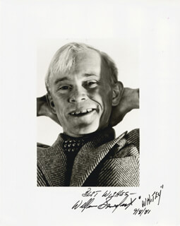 WILLIAM BILLY BENEDICT - AUTOGRAPHED SIGNED PHOTOGRAPH 09/08/1981