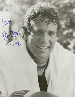 RYAN O'NEAL - AUTOGRAPHED SIGNED PHOTOGRAPH 1990