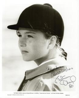 TATUM O'NEAL - AUTOGRAPHED INSCRIBED PHOTOGRAPH 1980