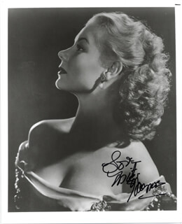 MITZI GAYNOR - AUTOGRAPHED SIGNED PHOTOGRAPH