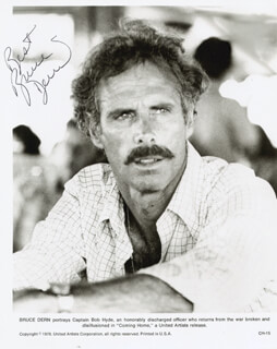 BRUCE DERN - AUTOGRAPHED SIGNED PHOTOGRAPH
