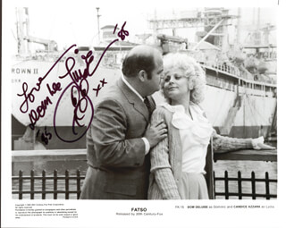 DOM DELUISE - AUTOGRAPHED SIGNED PHOTOGRAPH 1985
