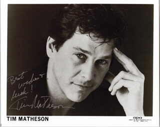 TIM MATHESON - PRINTED PHOTOGRAPH SIGNED IN INK