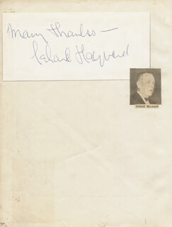 LELAND HAYWARD - AUTOGRAPH SENTIMENT SIGNED