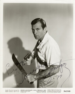 GEORGE MONTGOMERY - AUTOGRAPHED SIGNED PHOTOGRAPH 1979