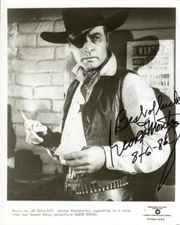GEORGE MONTGOMERY - AUTOGRAPHED SIGNED PHOTOGRAPH 08/06/1986