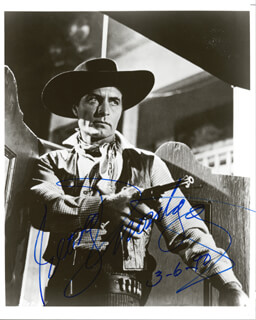 GEORGE MONTGOMERY - AUTOGRAPHED SIGNED PHOTOGRAPH 03/06/1990
