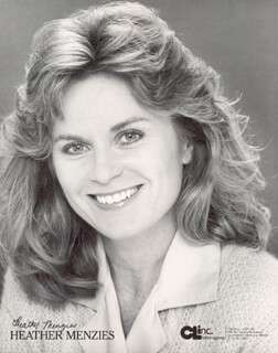 HEATHER MENZIES - PRINTED PHOTOGRAPH SIGNED IN INK