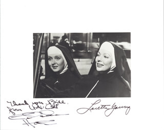 COME TO THE STABLE MOVIE CAST - AUTOGRAPHED SIGNED PHOTOGRAPH CO-SIGNED BY: LORETTA YOUNG, CELESTE HOLM