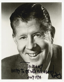 RUDY VALLEE - AUTOGRAPHED INSCRIBED PHOTOGRAPH 7/1970
