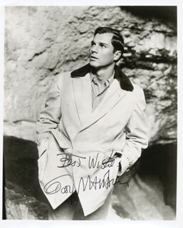 GEORGE MAHARIS - AUTOGRAPHED SIGNED PHOTOGRAPH