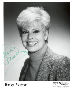 BETSY PALMER - PRINTED PHOTOGRAPH SIGNED IN INK