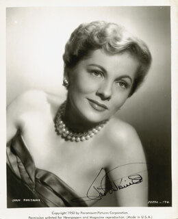 JOAN FONTAINE - PRINTED PHOTOGRAPH SIGNED IN INK