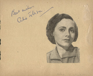 CELIA JOHNSON - AUTOGRAPH SENTIMENT SIGNED CO-SIGNED BY: VERONICA ROSE