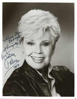 BETSY PALMER - AUTOGRAPHED SIGNED PHOTOGRAPH 1987