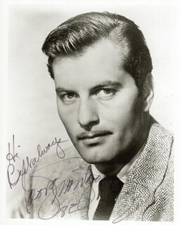 GEORGE MONTGOMERY - AUTOGRAPHED SIGNED PHOTOGRAPH 1982