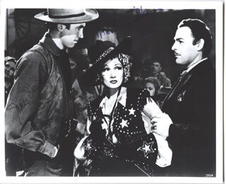 DESTRY RIDES AGAIN MOVIE CAST - AUTOGRAPHED SIGNED PHOTOGRAPH CO-SIGNED BY: MARLENE DIETRICH, JAMES JIMMY STEWART