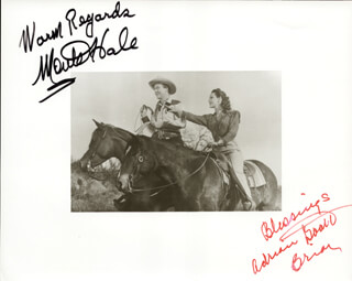 MONTE HALE - AUTOGRAPHED SIGNED PHOTOGRAPH CO-SIGNED BY: ADRIAN (LORNA GRAY) BOOTH